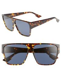 Dior - 62mm Flat Top Square Sunglasses - Lyst