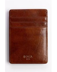 Bosca - 'old Leather' Front Pocket Wallet - Lyst