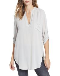 Nordstrom - Perfect Roll Tab Sleeve Tunic - Lyst