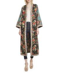 Alice + Olivia | Lynn Mixed Print Long Kimono | Lyst