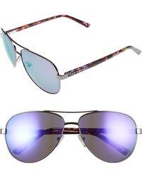Ted Baker - 60mm Aviator Sunglasses - - Lyst
