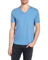 John Varvatos - Slim Fit Slubbed V-neck T-shirt - Lyst