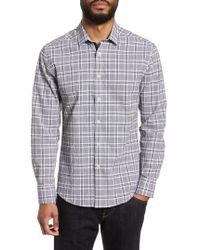 Vince Camuto - Slim Fit Plaid Seersucker Sport Shirt - Lyst