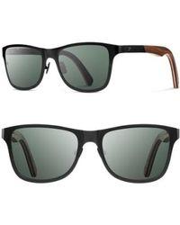 Shwood - 'canby' 54mm Polarized Titanium & Wood Sunglasses - - Lyst