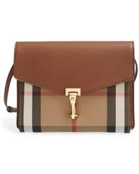 Burberry - 'small Macken' Check Crossbody Bag - - Lyst
