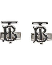 Burberry - Logo Cuff Links - Lyst