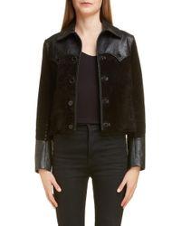 Saint Laurent - Western Mixed Leather Jacket - Lyst