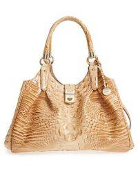Brahmin - Elisa Croc Embossed Leather Shoulder Bag - Lyst