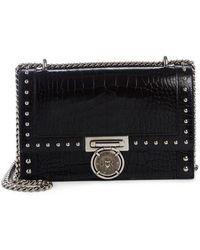 Balmain - Stud Leather Box Shoulder Bag - Lyst