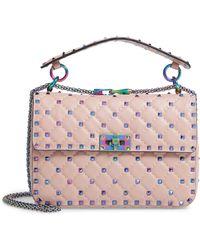 Valentino - Rockstud Lambskin Leather Shoulder Bag - Lyst