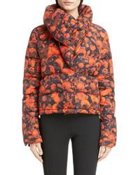 Givenchy - Rose Print Down Crop Puffer Coat - Lyst