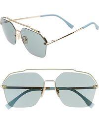 Fendi - 61mm Navigator Sunglasses - Lyst