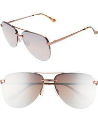 aeabde2c6547 Quay - X Jlo The Playa 54mm Aviator Sunglasses - - Lyst
