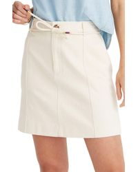 fb5a64a260 Madewell Ridgestripe Skirt in White - Lyst