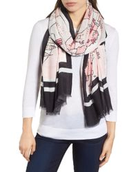 Kate Spade - Usa Map Scarf - Lyst