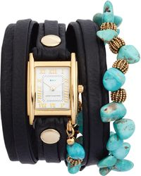 La Mer Collections - Oceana Stones Leather Wrap Watch - Lyst