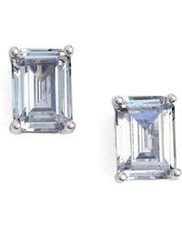 Nordstrom - Emerald Cut 2ct Tw Cubic Zirconia Stud Earrings - Lyst