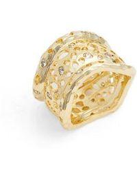 Melinda Maria - Honey Cigar Ring - Lyst