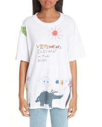 Vetements - Elephant Sun Tee - Lyst