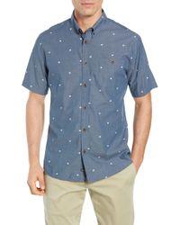 6cb626f93 Lyst - Quiksilver Regular Fit Geo Sport Shirt for Men