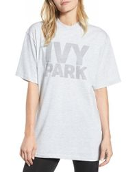 Ivy Park - Dotted Logo Oversized Tee - Lyst