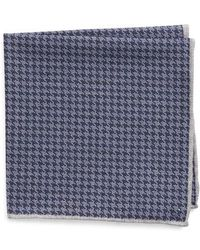 Eleventy - Houndstooth Wool & Cotton Pocket Square - Lyst