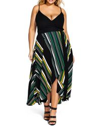 City Chic - High/low Wrap Dress - Lyst
