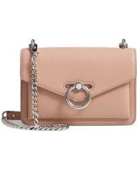 8d2a3667e6fc Lyst - Rebecca Minkoff Jean Leather Crossbody Bag in Brown