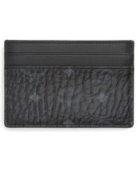 MCM - Logo Leather Card Case - Lyst