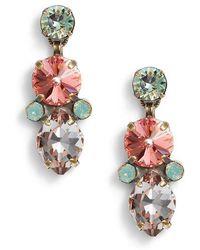 Sorrelli - Iris Crystal Drop Earrings - Lyst