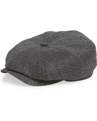 3bfe8d8d00ab02 Lyst - Ted Baker Sabini Baker Boy Cap in Gray for Men