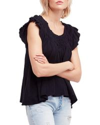 Free People - We The Free By Coconut Gathered Top - Lyst