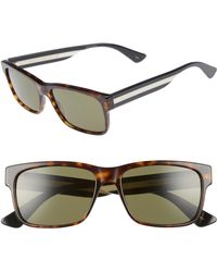 9c2b0879862 Lyst - Gucci Black Sylvie Sunglasses in Green for Men