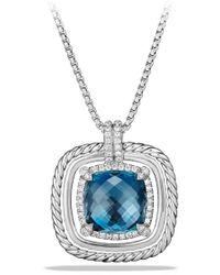 David Yurman - 'chatelaine' Large Pave Bezel Pendant Necklace With Diamonds - Lyst