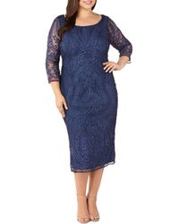 JS Collections - Soutache Embroidered Dress - Lyst