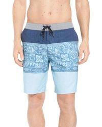 Quiksilver - Liberty Triblock Board Shorts - Lyst