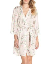 Flora Nikrooz - Rose Floral Crepe Cover-up Robe - Lyst