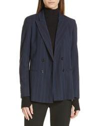 HUGO - Anandas Pinstripe Suit Jacket - Lyst