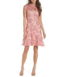 Tadashi Shoji - Noelle Floral Fit & Flare Dress - Lyst