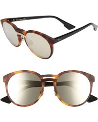 93028a03b03b6 Dior - Onde 1 50mm Round Sunglasses - Havana  Black - Lyst
