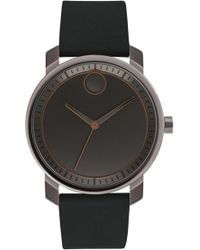 Movado - Bold Leather Strap Watch - Lyst