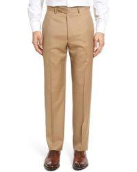 Santorelli - Flat Front Twill Wool Trousers - Lyst