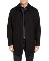 Cole Haan - Cole Haan Reversible Wool Blend Overcoat - Lyst
