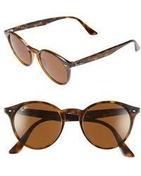 dcc2dd3046 Lyst - Ray-Ban 0rb4203 710 13 51 Shiny Havana brown Gradient ...