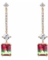Nina - Deco Linear Drop Earrings - Lyst