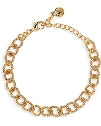 BaubleBar - Crystal Covered Link Bracelet - Lyst