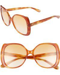 5bada9fd6839b Gucci - Women s 56mm Oversized Square Sunglasses - Orange Havana - Lyst