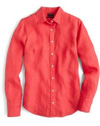 J.Crew | J.crew Slim Perfect Pieced Dyed Irish Linen Shirt | Lyst