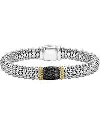 Lagos - Diamond Lux Black Diamond Station Bracelet - Lyst