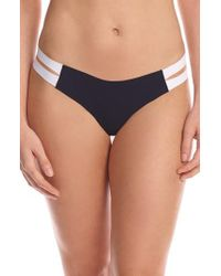 Commando - Stripped Colorblock Seamless Thong - Lyst